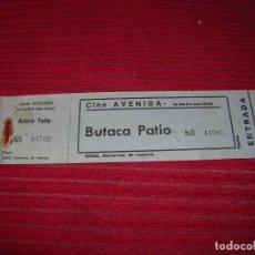 Entradas de Cine : ANTIGUA ENTRADA DE CINE AVENIDA.SAN JUAN DE LA ARENA.OVIEDO.. Lote 96856975