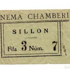 Entradas de Cine : ENTRADA DE CINE - CINE CHAMBERI - SILLON. Lote 103606483