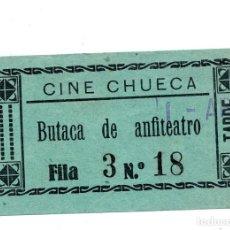 Entradas de Cine : ENTRADA DE CINE - CINE CHUECA - ANFITEATRO. Lote 103606799