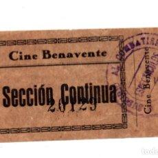 Entradas de Cine : ENTRADA DE CINE - CINE BENAVENTE - SECCIÓN CONTINUA - SELLO SUBSIDIO AL COMBATIENTE. Lote 103682455
