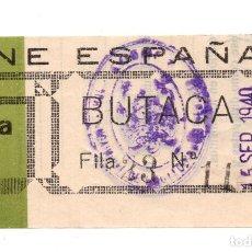 Entradas de Cine : ENTRADA DE CINE - CINE ESPAÑA - CUENCA 1940. Lote 103682663