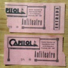 Entradas de Cine : CINE CAPITOL - GUERRA CIVIL - LOTE DOS ENTRADAS. Lote 114642907