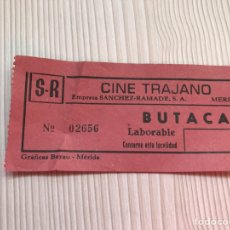 Entradas de Cine : ENTRADA ORIGINAL CINE TRAJANO , MÉRIDA AÑOS 80. Lote 115358886