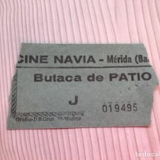 Entradas de Cine : ENTRADA AÑOS 80 CINE NAVIA, MERIDA. Lote 115358995