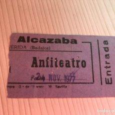 Entradas de Cine : ENTRADA AÑO 1977 CINE ALCAZABA MERIDA. Lote 115361691