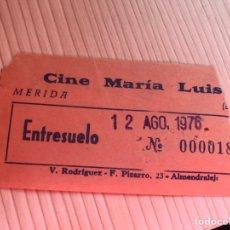 Entradas de Cine : ENTRADA CINE MARIA LUISA MERIDA AÑO 1977. Lote 115361826
