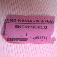 Entradas de Cine : ENTRADA CINE NAVIA , MERIDA AÑOS 80. Lote 115362604