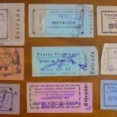 Entradas de Cine : LOTE-02 DE 9 ENTRADAS DE CINES DE SAN SEBASTIAN EPOCA DE LA GUERRA CIVIL. Lote 115468775