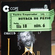 Entradas de Cine : ENTRADA TEATRO EMPERADOR LEÓN 'EL LAZARILLO DE TORMES' (2001). Lote 120138591