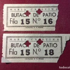 Entradas de Cine : ANTIGUAS ENTRADAS DEL CINE MARÍA CRISTINA.. Lote 121279296