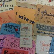 Entradas de Cine : LOTE DE 50 ENTRADAS. LA MAYORÍA SON CINES DE BARCELONA. AÑOS 40-50. Lote 121891831