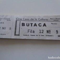 Entradas de Cine : MORA DE RUBIELOS. TERUEL. CINE CASA DE LA CULTURA. TACO DE ENTRADAS.. Lote 123068647