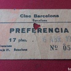 Entradas de Cine : BARCELONA. CINE BARCELONA. ABR. 1972. Lote 125427547