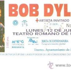 Entradas de Conciertos: ENTRADA BOB DYLAN TEATRO ROMANO DE MERIDA.12 DE JULIO 1993. Lote 26232331