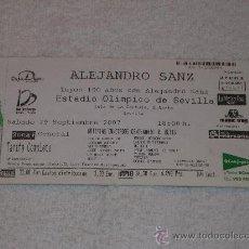 Entradas de Conciertos: ENTRADA CONCIERTO ALEJANDRO SANZ (SEVILLA´07) / CENTENARIO REAL BETIS. Lote 22705304