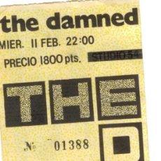 Entradas de Conciertos: ENTRADA HISTÓRICO CONCIERTO THE DAMNED EN 1987 DISCOTECA APOCALYPSE * PLASTIFICADA!!!. Lote 26989662