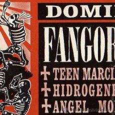 Entradas de Conciertos: FANGORIA + TEEN MARCIANAS + HIDROGENESSE + MOLINA - ENTRADA ORIGINAL CONCIERTO - BCN 1999. Lote 15992755