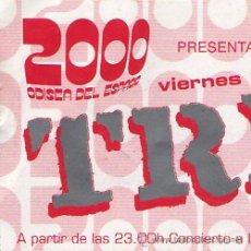 Entradas de Conciertos: TRICKY - ENTRADA ORIGINAL CONCIERTO – BARCELONA 2000. Lote 16536093