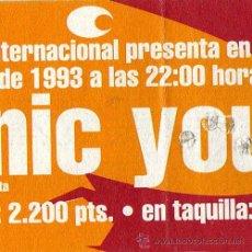 Entradas de Conciertos: SONIC YOUTH + EL INQUILINO COMUNISTA – ENTRADA ORIGINAL CONCIERTO – BARCELONA 1993. Lote 21150479
