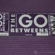 Entradas de Conciertos: * THE GO BETWEENS : (*ENTRADA CONCIERTO EN LA SALA ROCK CLUB DE MADRID*) - (NUEVA - SIN TROQUELAR) *. Lote 205313212