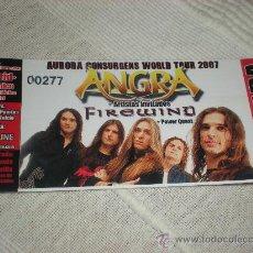 Entradas de Conciertos: ANGRA - ENTRADA DE CONCIERTO TICKET . Lote 96866908