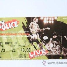 Entradas de Conciertos: ENTRADA CONCIERTO MUSICA THE POLICE 8 SEPTIEMBRE 2007 LONDRES. Lote 31361250