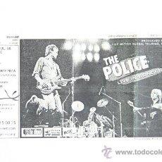 Entradas de Conciertos: ENTRADA PREFERENTE CONCIERTO MUSICA THE POLICE 2008 VALENCIA ORIGINAL. Lote 31471823