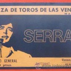 Entradas de Conciertos: ENTRADA CONCIERTO JOAN MANUEL SERRAT - LAS VENTAS - DIARIO EL MUNDO (RÉPLICA). Lote 31566371