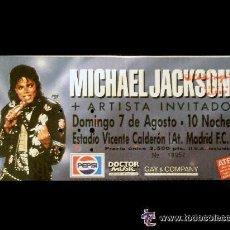 Entradas de Conciertos: ENTRADA CONCIERTO DE MICHAEL JACKSON EN MADRID. 7 DE AGOSTO DE 1988. SU SEGUNDO CONCIERTO EN ESPAÑA!. Lote 33396300