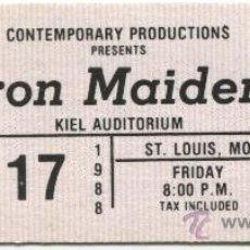 Entradas de Conciertos: IRON MAIDEN **1988** ENTRADA TICKET CONCIERTO SIN USO TICKET AUTÉNTICA VINTAGE. Lote 36719776