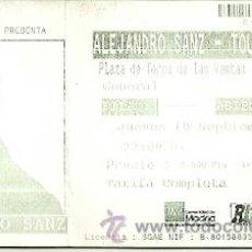 Entradas de Conciertos: ALEJANDRO SANZ ENTRADA DE UN CONCIERTO PLAZA DE TOROS DE LAS VENTAS 10/09/1998. Lote 37758741