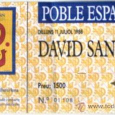 Entradas de Conciertos: ENTRADA CONCIERTO - DAVID SANBORN - 1988. Lote 38167896