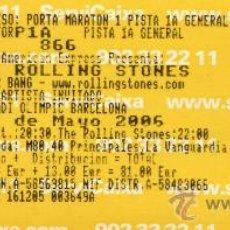 Entradas de Conciertos: ENTRADA - ROLLING STONES - BARCELONA 2006 - TICKET CONCIERTO CANCELADO - ESPECIAL PARA COLECCIONISTA. Lote 115011054