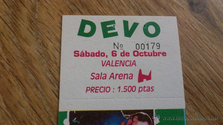 Entradas de Conciertos: Entrada original concierto Devo Valencia arena auditorium Sabado 6 oct 1500 pts - Foto 2 - 43833535