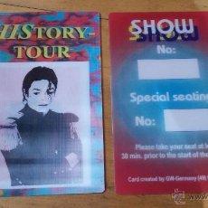 Entradas de Conciertos: MICHAEL JACKSON PASE TICKET HISTORY TOUR 3D ENTRADA CONCIERTO. Lote 44054750