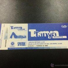 Bilhetes de Concertos: ENTRADA CONCIERTO TANYA DONELLY - 29/11/1997 SALA BIKINI, BARCELONA - NUEVA.. Lote 44308513