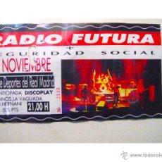 Entradas de Conciertos: ENTRADA DE 1989 DEL CONCIERTO DE RADIO FUTURA CELEBRADO EL EN PALACIO DE LOS DEPORTES DEL REAL MADR. Lote 45761379