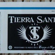 Entradas de Conciertos: ENTRADA DE CONCIERTO TIERRA SANTA. ROCK. BARCELONA. 29 DE ENERO DE 2011. Lote 46743036