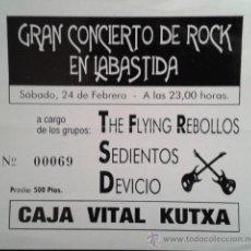 Entradas de Conciertos: ENTRADA CONCIERTO DE ROCK EN LABASTIDA . Lote 46900645
