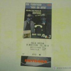 Entradas de Conciertos: HACIENDA BROTHERS ENTRADA DE CONCIERTO TICKET SALA ARENA MADRID. Lote 46955648