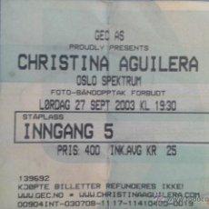 Entradas de Conciertos: ENTRADA CONCIERTO DE CRISTINA AGUILERA. Lote 47351256