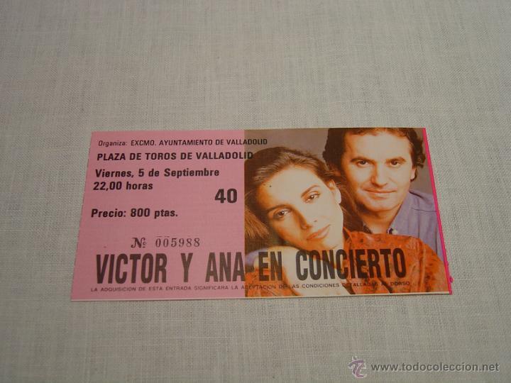 VICTOR Y ANA EN CONCIERTO - ENTRADA VALLADOLID (Música - Entradas)
