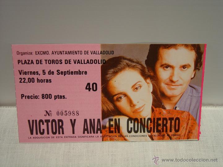 Entradas de Conciertos: VICTOR Y ANA EN CONCIERTO - ENTRADA VALLADOLID - Foto 2 - 47528025