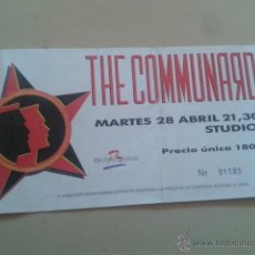 Entradas de Conciertos: ENTRADA CONCIERTO THE COMMUNARDS EN STUDIO 54 DE BARCELONA EL 28 ABRIL 1987. Lote 48148109
