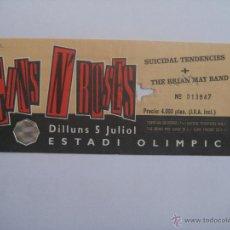 Entradas de Conciertos: ENTRADA CONCIERTO GUNS N' ROSES BARCELONA (ESTADIO OLIMPICO) 5 JULIO 1993, SIN CORTAR. Lote 48673471