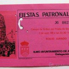 Entradas de Conciertos: ENTRADA CONCIERTO ROCIO JURADO 1988. Lote 48688239