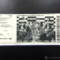 Billets de concerts: ENTRADA CONCIERTO LADY GAGA - PALAU SANT JORDI BARCELONA NOVIEMBRE 2014,. Lote 49072856