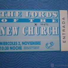 Entradas de Conciertos: ENTRADA CONCIERTO THE LORDS OF THE NEW CHURCH 100PTS SPAIN COMPLETA. Lote 49626006