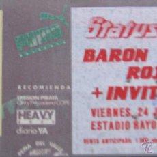 Entradas de Conciertos: ENTRADA ORIGINAL CONCIERTO VALLECAS ROCK 1987. STATUS QUO, BARON ROJO. Lote 62513712