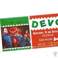Entradas de Conciertos: DEVO, ENTRADA CONCIERTO SALA ARENA, VALENCIA OCTUBRE 1989?. Lote 170213757
